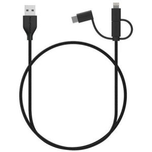 RAVpower RP-CB021 USB to microUSB/ Lightening/ USB-C Cable 0.9m